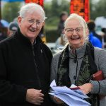 Fr. Simon Twomey and Pauline McSweeney, at the Killarney Races August evening meeting at the race course.Photo:Valerie O'Sullivan/FREE PIC***